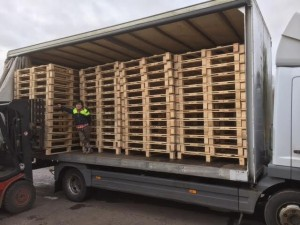 New pallets being despatched